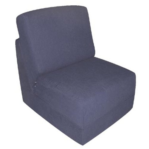 Fun Furnishings Teen Chair, Navy Micro Suede (Blue Chair Sleeper)