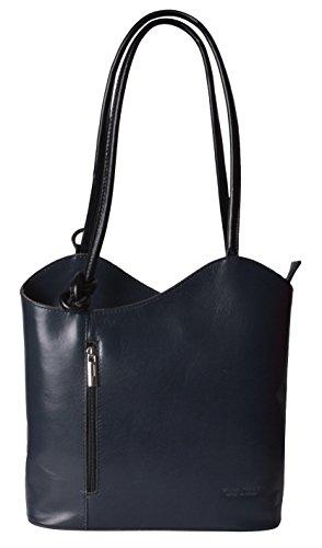 Donne Delle Bag Pelle Borse Nero Grigio In Ardesia Italiani Tote pgwf4qxxY