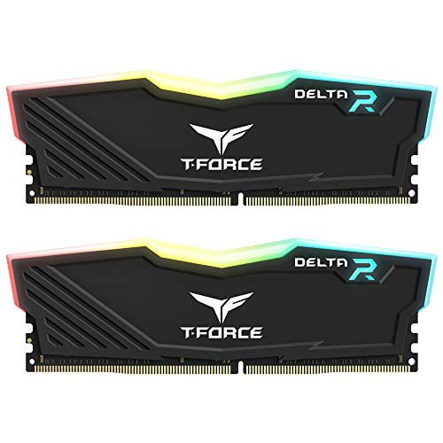 TEAMGROUP T-Force Delta RGB DDR4 16GB (2x8GB) 3000MHz (PC4-24000) CL16 Desktop Memory Module ram TF3D416G3000HC16CDC01 – Black