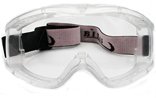 'Fit Over Glasses' Anti-fog Riding Goggles (White Frame Clear Lens)