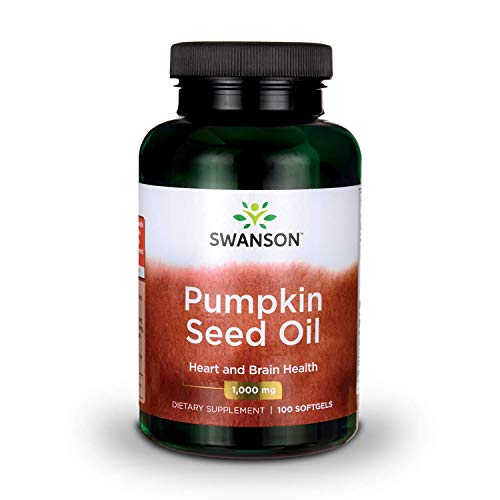 Swanson Pumpkin Seed Oil Brain Health Cardiovascular Support High Bioavailable Essential Fatty Acids (EFAs) Combination Herbal Supplement 1000 mg 100 Softgel Capsules (Best Pumpkin Seed Oil Capsules)