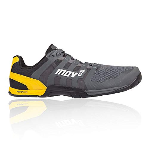 Inov-8 Mens F-Lite 235 V2 - Lightweight Minimalist Cross Training Shoes - Zero Drop - Athletic Shoe for Gym, Training and Weight Lifting - Wide Toe Box - Grey/Yellow 15 M US