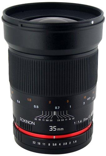 Rokinon 35mm F1.4 AS UMC Wide Angle Cine Lens for Sony E-Mount (NEX) (RK35M-E) (Rokinon 35 For Sony compare prices)