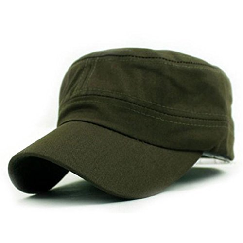 Baseball Hat Haoricu 2017 Hot Sale Fashion Unisex Classic Plain Vintage Military Style Adjustable Cap Hat  Army Green