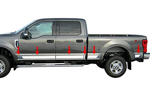 Made in USA! Works with 2017-2018 Ford F250/350 Superduty Crew Cab Rocker Panel 6.5' Bed BBL 4 3/4