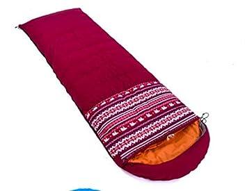 WKJ Abajo + Saco de Dormir de algodón, Saco de Dormir para Acampar al Aire Libre, ensanchado y extraíble, extraíble y Lavable: Amazon.es: Deportes y aire ...