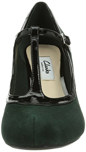 Clarks Chorus Thrill - Zapatos de tacón Dark Green Suede