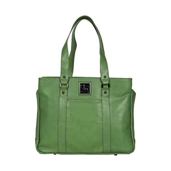 Kenneth-Cole-Reaction-Hit-A-Triple-Womens-Pebbled-Faux-Leather-Triple-Compartment-15-Laptop-Business-Tote