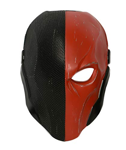 Villain Slade Mask Helmet Costume Accessories for Adult Full Head Red -