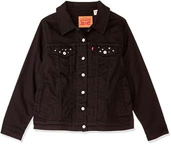 Levi's Women's Plus Size Original Trucker Soft, Ultra Black, 1 X
