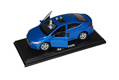 [HYUNDAI Brand Collection] 1:38 Scale For Hyundai 2017+ Elantra, Avante AD Diecast Model MiniAture Car Toy - Marina Blue