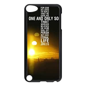 diycover Ipod Touch 5th Case - Christian Theme - John 3:16 - Best Durable Cover Case
