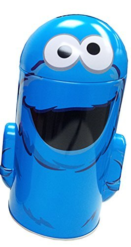 Sesame Street Cookie Monster Blue Tin Coin Bank