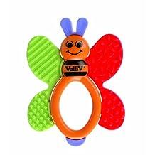 Vulli 101018 Rattle Teether Ring Butterfly Design