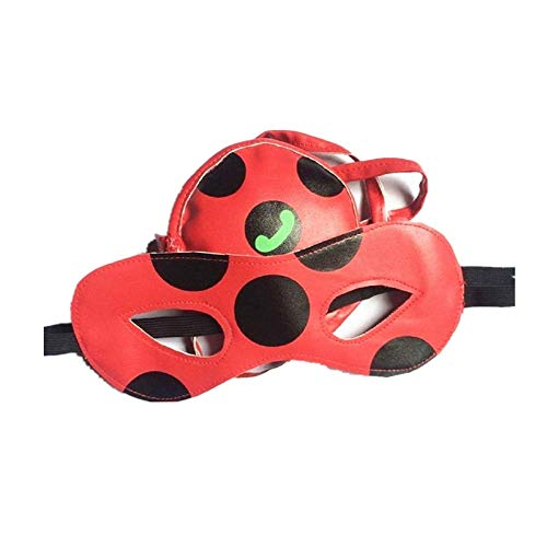 Joyfunny Girls Ladybug Halfmask Bag Miraculous Halloween Cosplay Costume Accessories Prop (Ladybug Accessories)