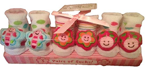 GetSet2Save Flower Rattle Socks Box