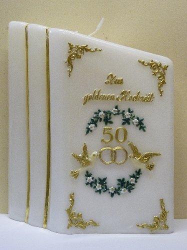 Amazonde Netsells Handverzierte Kerze Goldene Hochzeit