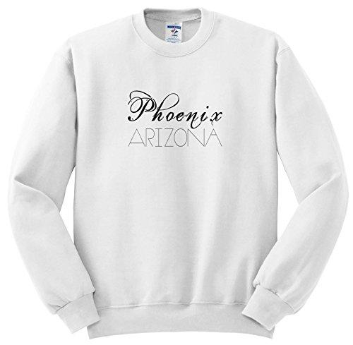 Alexis Design - American Cities - American Cities - Phoenix Arizona Black Text On White - Sweatshirts - Adult Sweatshirt XL (SS_273760_4)