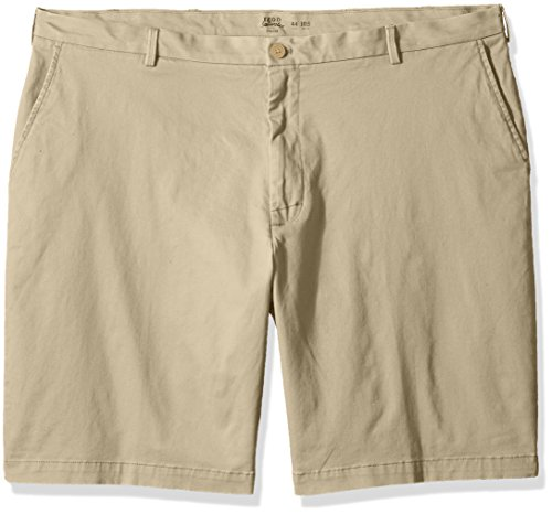 IZOD Men's Big and Tall Saltwater Stretch Chino Short, Pale Khaki, 46 (Khaki Stretch Shorts)