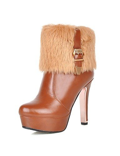 la XZZ 5 Stiletto Marrón eu35 Beige Tacón Vestido Casual us5 Negro Moda Redonda de Semicuero brown uk3 eu35 a us3 brown Botas cn34 us5 mujer cn34 uk3 cn32 5 Zapatos Punta Botas brown uk1 eu33 zxrzaAI