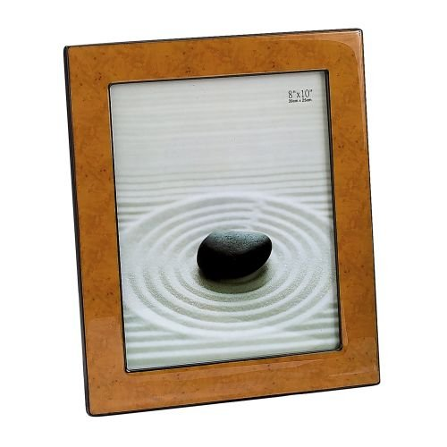 Elegance Silver Light Burl Wood Finish Frame, 4