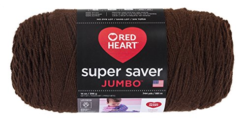 RED HEART Super Saver Jumbo Yarn, Coffee