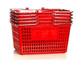 Shopping Basket (Set of 5) Durable Red Plastic with