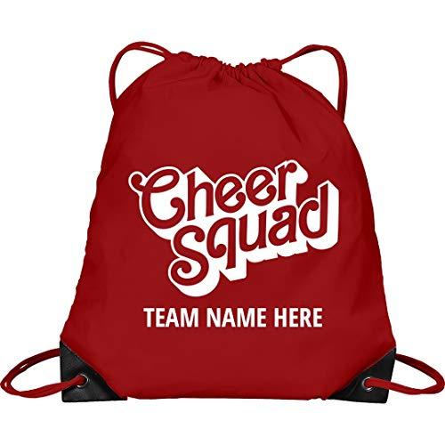 Spirit Custom Bag Cheerleader - Cheer Squad Custom Team Bag: Drawstring Cinch Bag