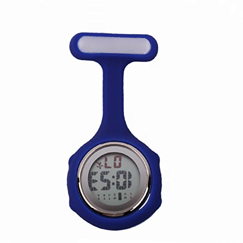 Digital Silicone Nurse Watch | Fob Pocket Watch | Doctor Nurse Timepiece | Medical Nurse Watch | Quartz with Clip Alk