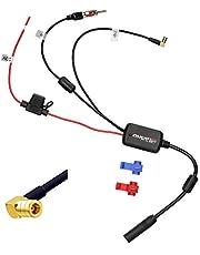 Audioproject A391 - DAB antenne versterker splitter SMB op DIN compatibel voor Sony Pioneer JVC Kenwood Blaupunkt Alpine FM antennesplitter autoradio digitale radio DAB+ Plus auto-adapter stekker