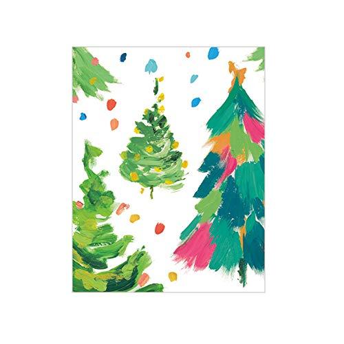 Caspari Brushstroke Trees Gift Enclosure Cards, 12 Mini Cards & ()