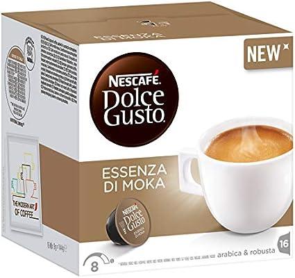 Nescafé Dolce Gusto Essenza di Moka, Cápsulas de Café, 16 Cápsulas ...