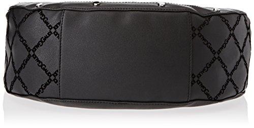 GAUDÌ Damen Hobo Big Bag Linea Anita Henkeltasche, Schwarz (Black), 38x32x13 cm
