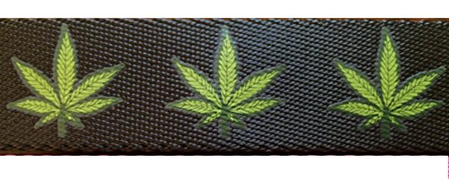 Marijuana Leaf Belt. Removable buckle for cut to length custom fit. Hold your pants up with style. 420 Friendly (Black)