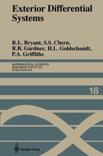 Exterior Differential Systems (Mathematical Sciences Research Institute Publications)