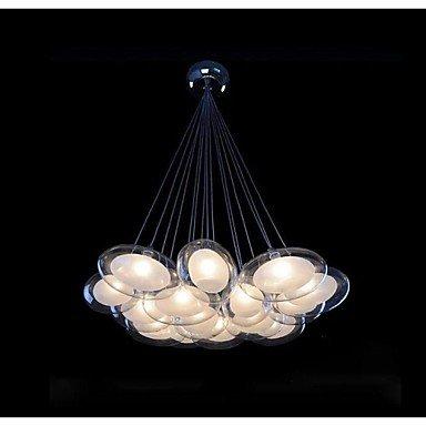 Moderno diseño de huevo FL 15 luces con G4 bombilla Led de cristal de huevo metalizado, 110-120V: Amazon.es: Iluminación