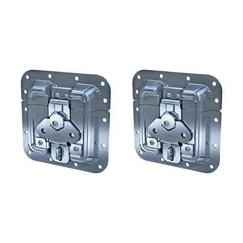 (TCH Hardware 2 Pack Heavy Duty Padlockable Surface Mount Twist Latch - Spring Loaded Butterfly Catch )