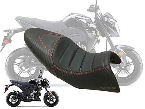 Kawasaki Z125 Seat Custom Carbon Red Stitching For Kawasaki Z125 2013-2019 And Z125 Pro All Model