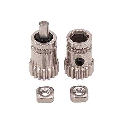 WINSINN Extruder Drive Wheel Gear for Bondtech Prusa i3 MK2 MK3 17 Tooth Modulus 0.5 Stainless Steel Bore 5mm for 3D Printer 1.75mm Filament (Pack of 2Pcs)