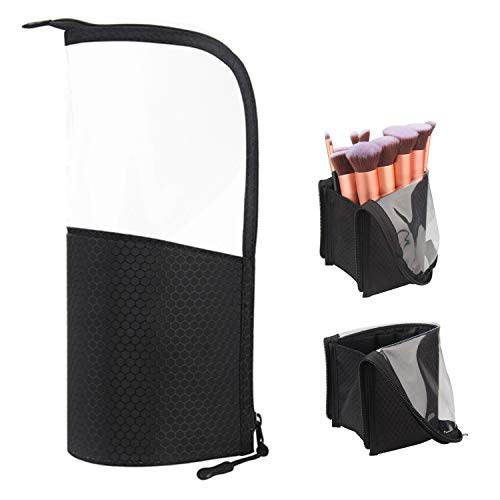 (Travel Makeup Brush Bag,Chomeiu Makeup Brush Set Holder Foundation Brushes Bag Organizer Makeup Artist Face Makeup Brush Sets Carry Case)