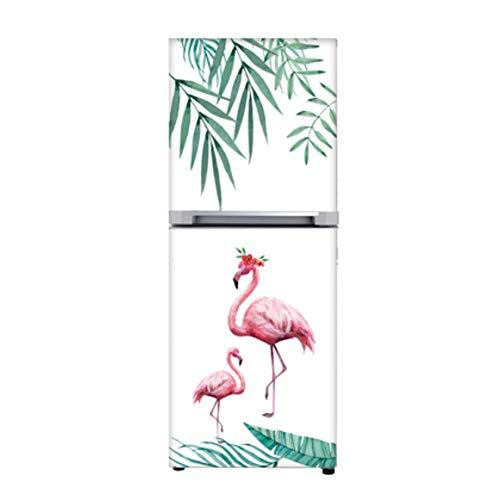 Hoja verde Flamingo extraíble 3d Diy nevera pegatina cubierta ...