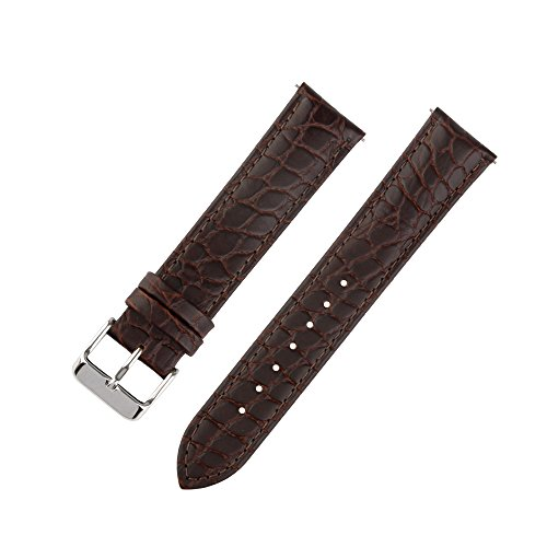 Ivystore 18mm 20mm 22mm Alligator Black And Brown Soft Interchangeable Bar...
