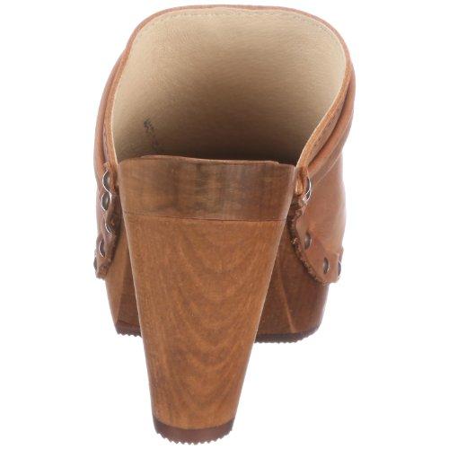 Sanita Wood-Tanya open 454315 Damen Clogs & Pantoletten Beige (Cognac 15)