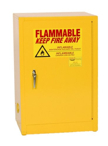 Eagle 1925 Safety Cabinet for Flammable Liquids, 1 Door Manual Close, 12 gallon, 35