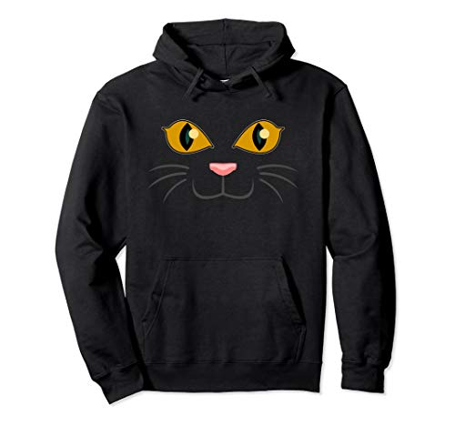 Halloween Black Cat Face | Kitty Lover Hoodie Gift -