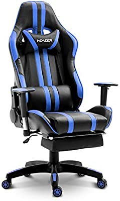 Office Furniture Office Equipment & Supplies Brand New Design swivel  PU Leather Office Sport Racing Gaming Chair W/Footrest
