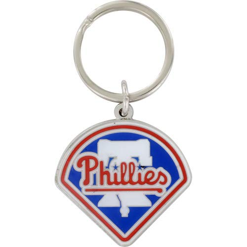 Zinc MLB Team Logo Key Ring - Philadelphia ()