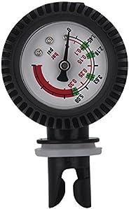 Kayak Air Pressure Gauge, Nylon Inflatable Boat Air Pressure Gauge Barometer for Kayak Raft Black