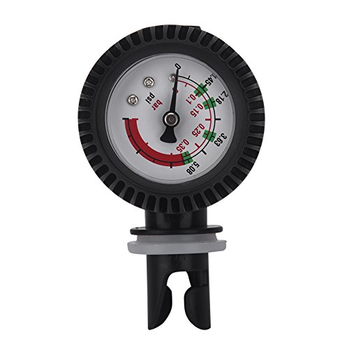 Tbest Inflatable Boat Air Pressure Gauge 0-5.08PSI Barometer for Fishing Boat Kayak Raft Black
