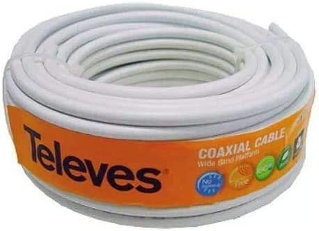 Kit Creado Pot Tecnovoz. Nueva Antena TELEVES Ellipse 148922 + Rollo de Cable 20Mt + Conectores (2ª Dividendo Digital (LTE700))